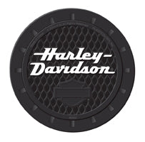 Harley-Davidson Script Stacked Logo Auto Coaster - Pack of 2