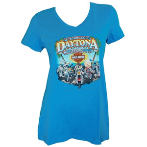 Daytona Custom Looney Ladies Blue Dealer Tee