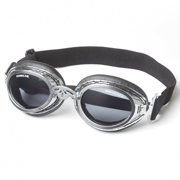 Doggles Sidecar - Dog Goggles in Silver Chrome