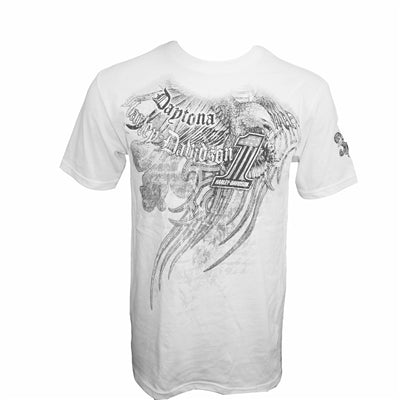 Daytona Tattoo Affliction White S/S Tee