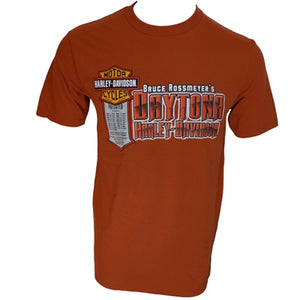 Daytona Patented Men's Burnt Orange S/S Dealer Tee