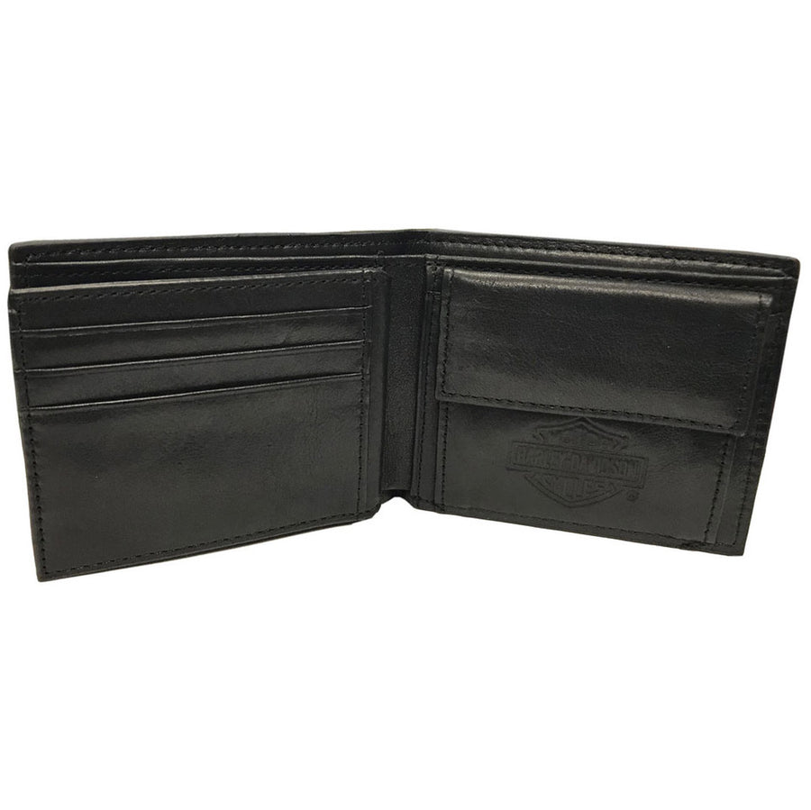 Men's Classic Bi-Fold RFID Wallet w/ Coin Pocket HDMWA11487