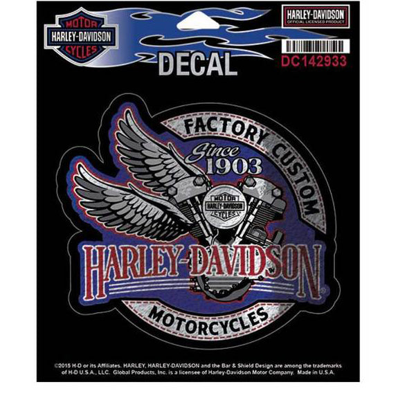 Shiny Factory Custom Winged V-Twin Decal  DC142933