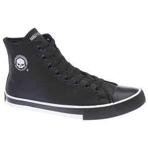 Men's Baxter Black/White Leather Hi-Cut Sneakers D93341