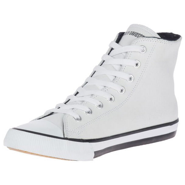 Men's Baxter Hi-Top Logo Athletic White Leather Sneakers D93679