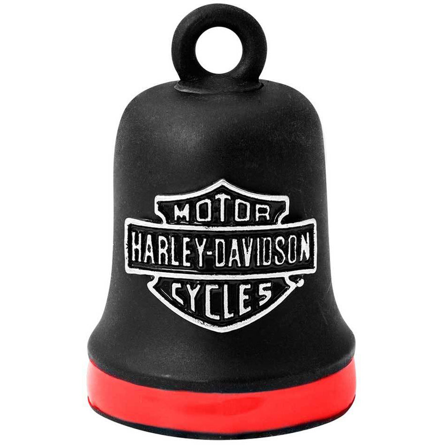 Bar & Shield Red Stripe Ride Bell HRB101