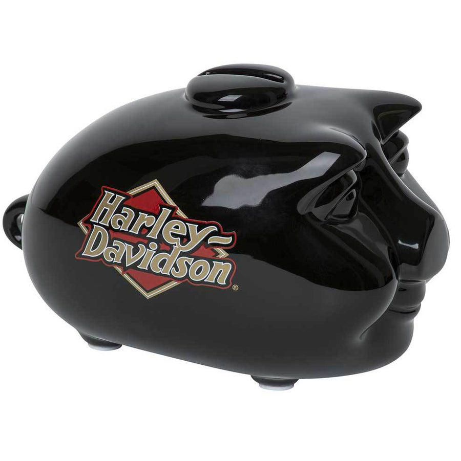 Harley-Davidson H-D Logo Ceramic Mini Hog Bank HDX-99103
