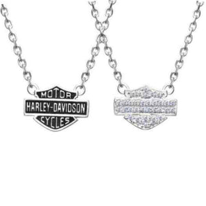 Women's Necklace, Bling Bar & Shield Logo Charm  HDN0148