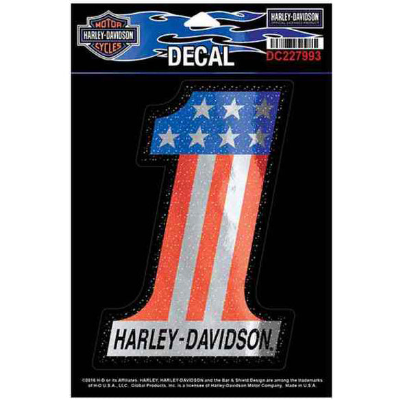 Glittery #1 Flag Logo Decal, Medium Size DC227993