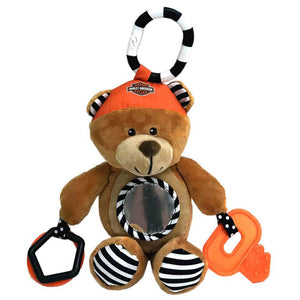 Harley-Davidson Honey Bear 9 in. Newborn Sensory Plush Toy 9950833