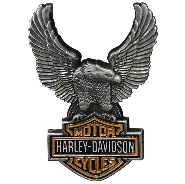Harley-Davidson Up-Winged Eagle Bar & Shield Pin Antique Finish 8008864