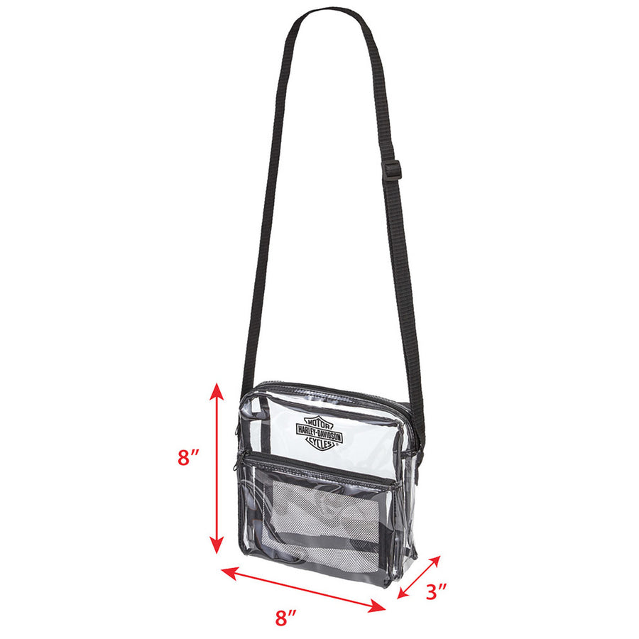 Clear Security Messenger Bag w/ Adjustable Strap 99662-CLEAR