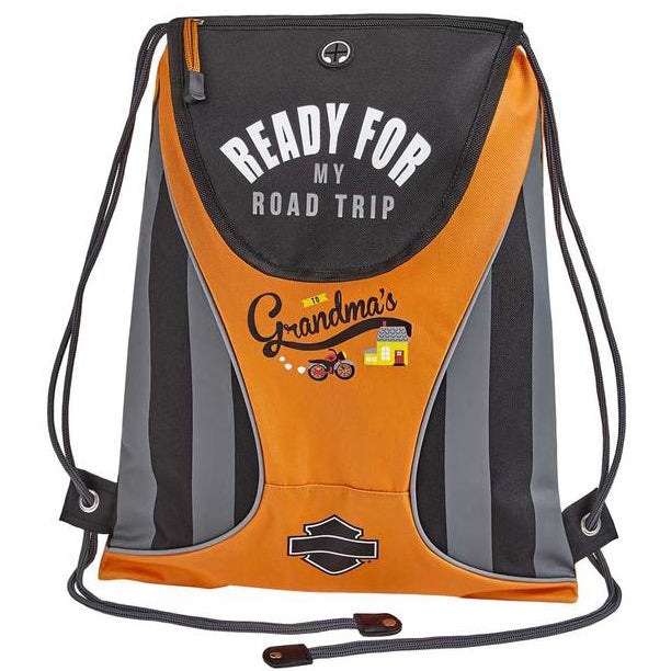 "Kids' Sling Drawstring Backpack ""Ready For My Road Trip Grandma"" 99841"