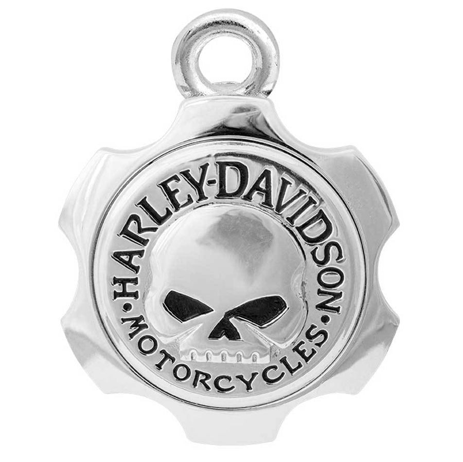 Axel Shape Willie G Skull Silver Ride Bell HRB100