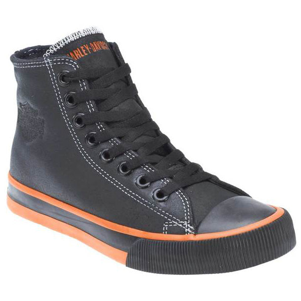 Men's Nathan Black Leather Hi-Top Sneakers D93816