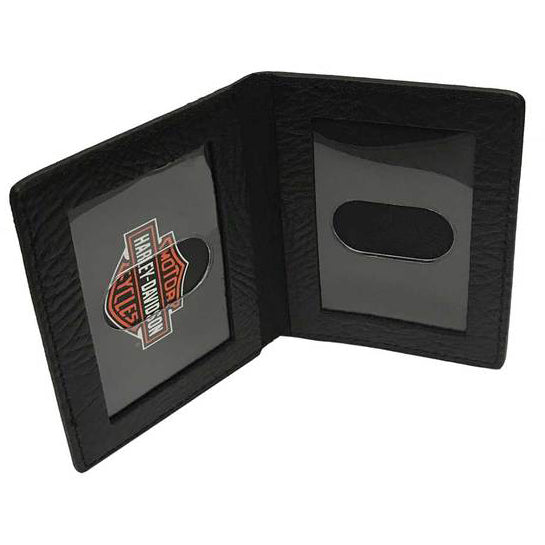 Men's Gunmetal Leather Billfold w/ Removable ID GM6538L-BLACK
