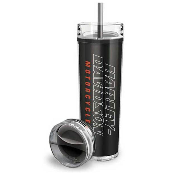 Strong H-D Double-Wall Travel Tumbler w/ 2 Lids MG96630