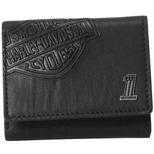 Mens Bar & Shield Classic Trifold Wallet CR2352L-BLK