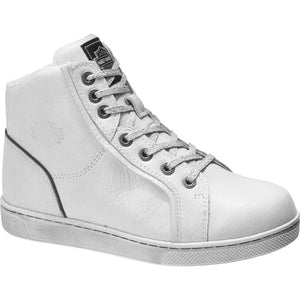 Women's Bateman White Leather Sneakers D84635