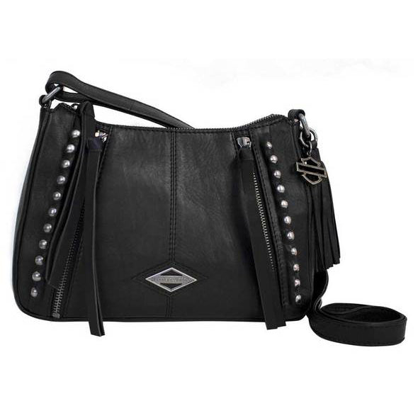 Ball & Chain Genuine Leather Crossbody Purse BC6127L/BLK