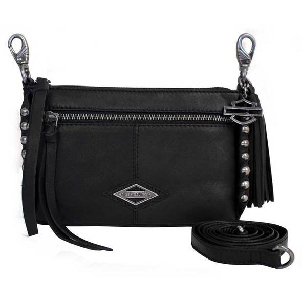 Ball & Chain Genuine Leather Horizontal Hipbag BC6145L/BLK