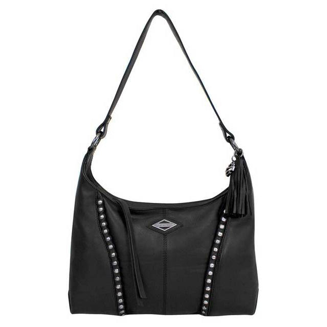 Ball & Chain Genuine Leather Hobo Purse BC6518L/BLK