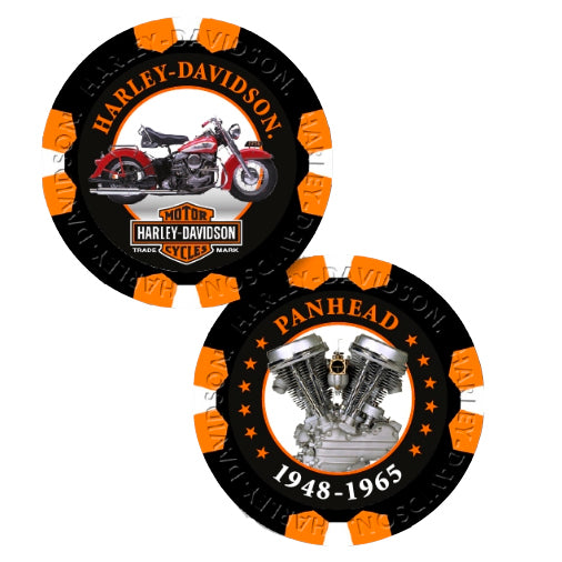 Limited Edition Series 5 PanHead Poker Chips Pack Black & Orange  6705