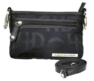 Black Jacquard Hip Bag
