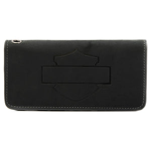 Men's Refuel Outline Bifold Black Leather Wallet HDMWA11732
