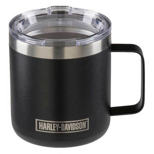 Etched H-D Stainless Steel Travel Mug with Lid - 12 oz. HDX-98629