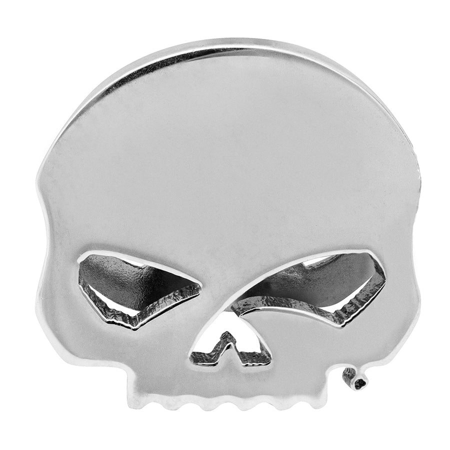 Willie G Skull Rally Charm in Silver Tone
