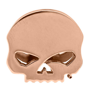 Willie G Skull Rally Charm in Rose Gold Tone