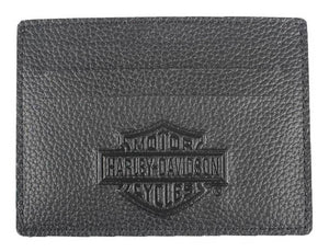 Men's Embossed Front Pocket Leather Wallet XML3590-BLK