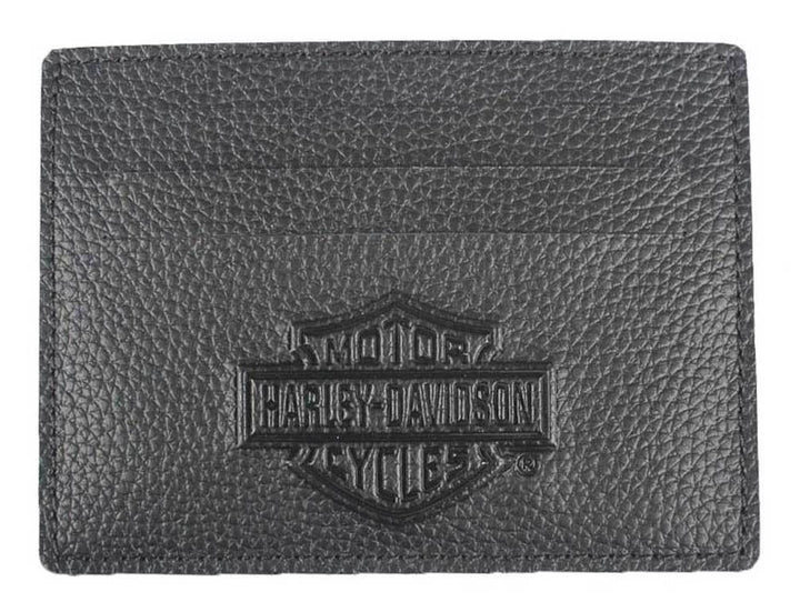 Men's Embossed Front Pocket Leather Wallet