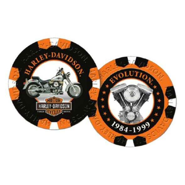 Limited Edition Series 7 Poker Chips Pack, Black & Orange 6707