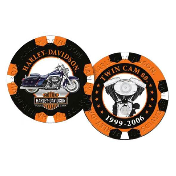 Limited Edition Series 8 Poker Chips Pack, Black & Orange 6708