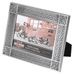 Tire Tread Tin Plated Picture Frame -Holds 5 x 7 Photo HDX-99171