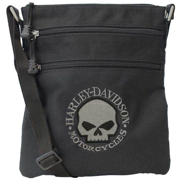 Embroidered Willie G Skull Crossbody Purse w/ Adjustable Strap XMP121