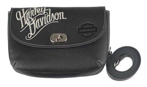 Embroidered Script Clip- Hip Bag