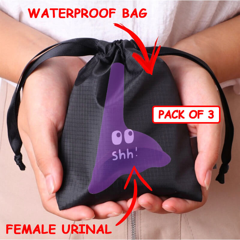 Reusable Waterproof Bag For Female Urinal (Pack of 3)