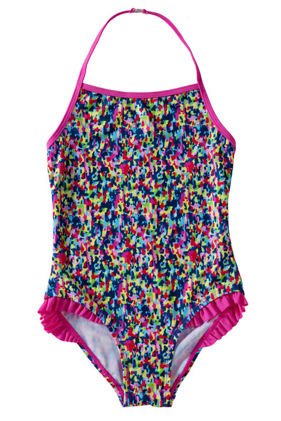 Colorful Ruffle Little Girls?¡¥ One Piece Swimsuit