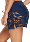 Lace Shorts Attached Swim Bottom