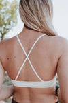 Swimsuitsnova White Crochet Boho High Neck Bralette Crop Tank Top Hollow Out Cami Lingerie Valentines Day Women