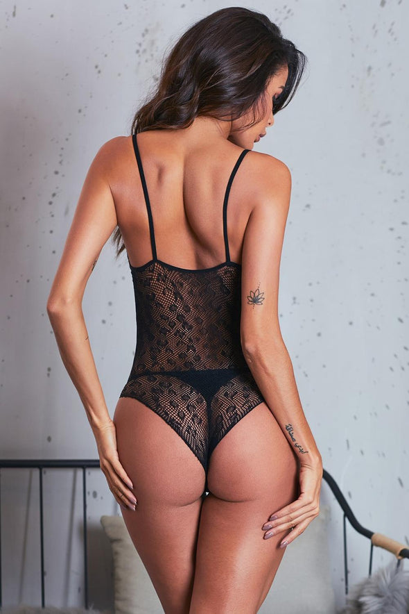 Sexy Intimate V-Neck Lace Teddy Bodysuit Lingerie
