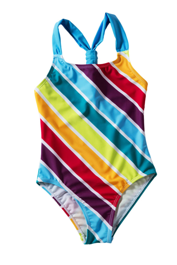 Baby Girls Multi Stripe One Piece Swimsuit