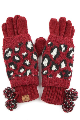 C.C Leopard Gloves