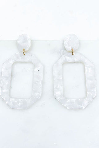 Marble Post Drop Earrings