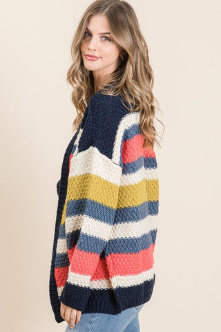 Crazy About Stripes Cardigan
