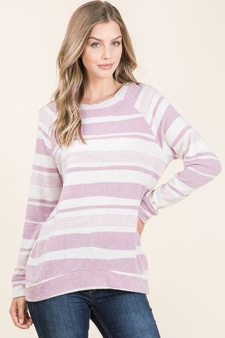 Lilac Striped Long Sleeve