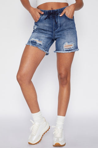 Denim Jogger Shorts - Curvy